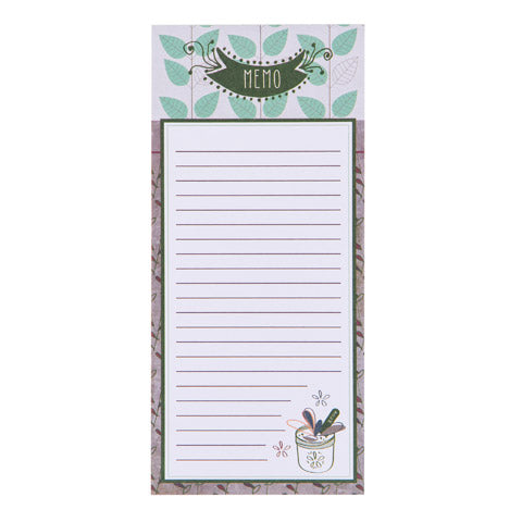 My Family Recipes Magnetic Notepad - Modern Herbs