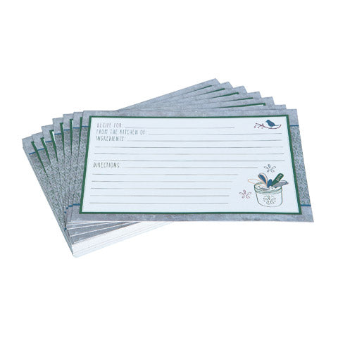 My Family Recipes Blank Recipe Cards - Modern Herbs