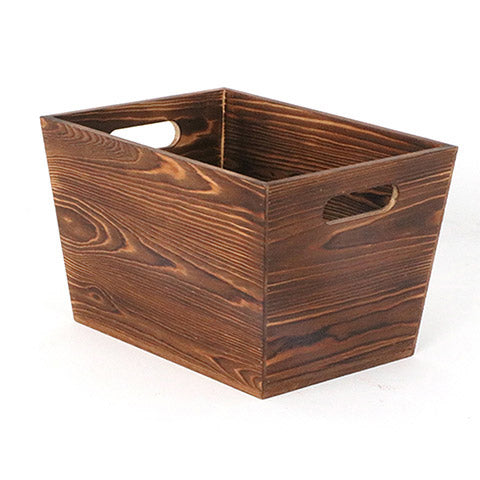 Wood Container with Handles