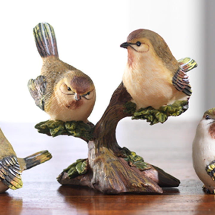 "4"" Birds On Branch"