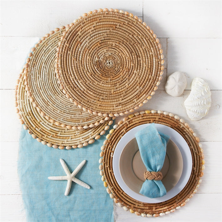 Pandan and Seashell Placemats (Set of 4)