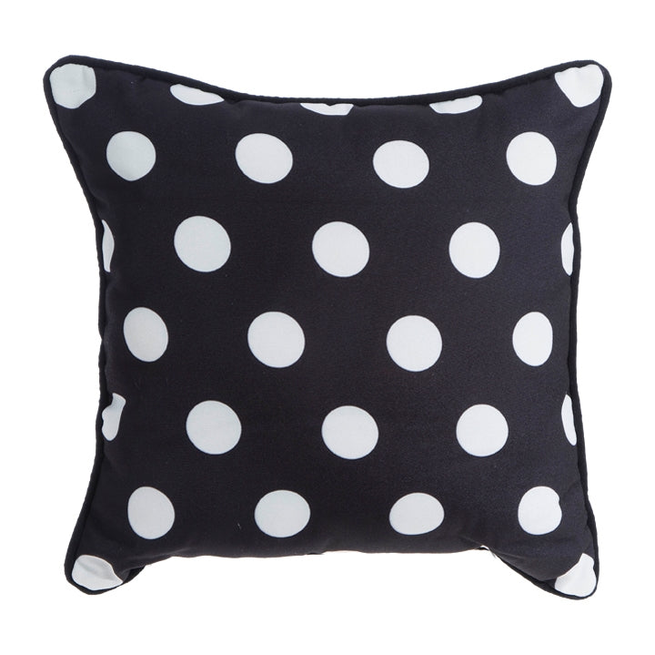 Black and White Polka Dot Pillow