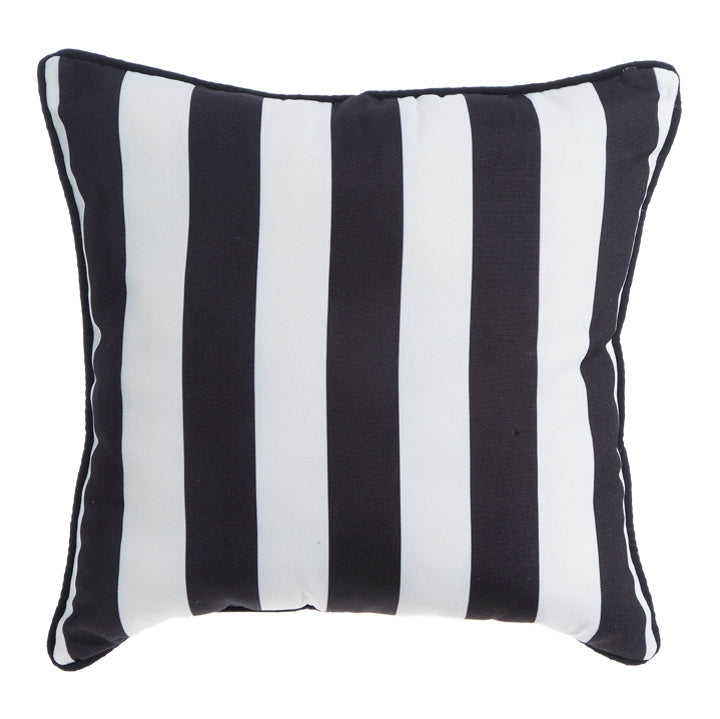 Black and White Stripe Pillow