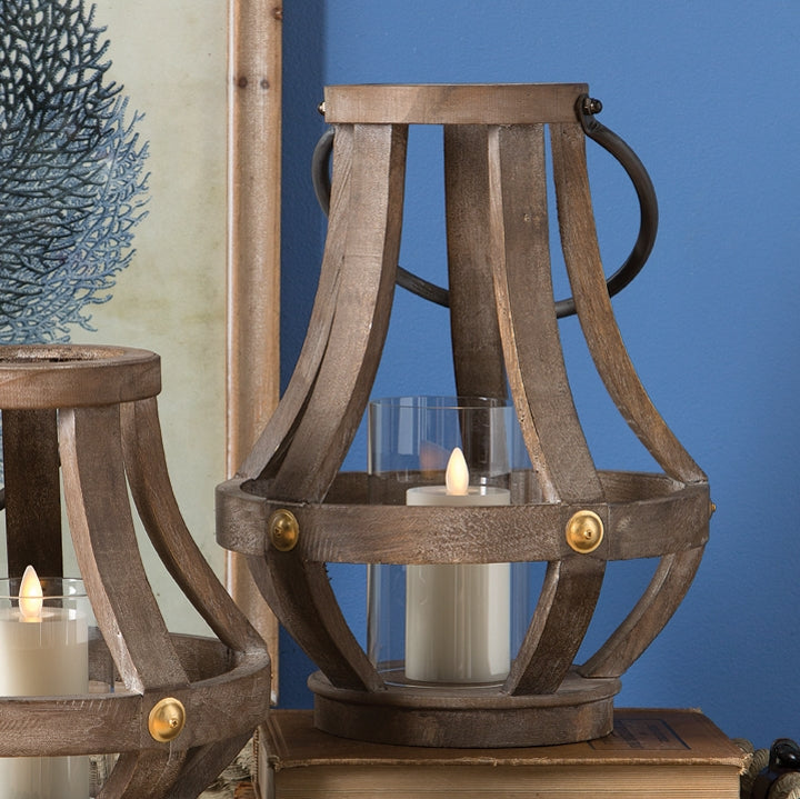 Wood Lantern Candle Holder