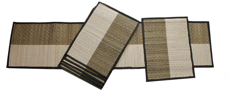 Black Jute Table Runner