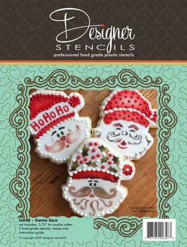 Santa Face Cookie Cutter and Stencil Set