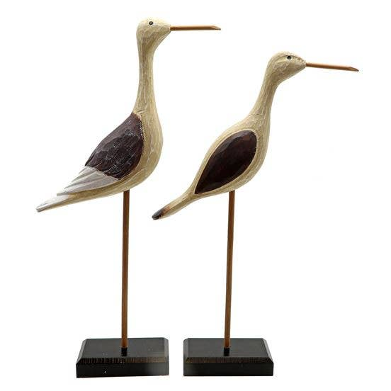 Carved Wooden Shorebirds