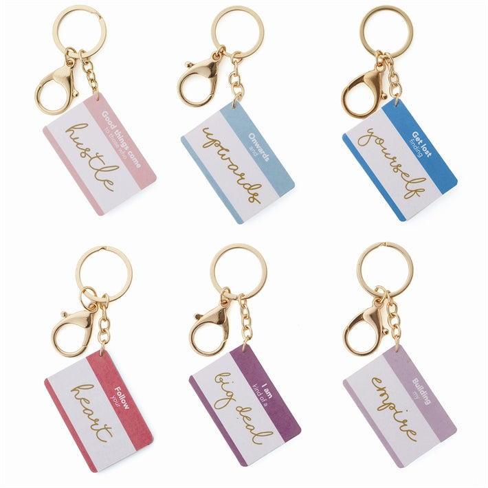 Stay Inspired Motivational Keychain on Gift Card
