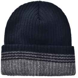 Striped Toboggan Hat - Black