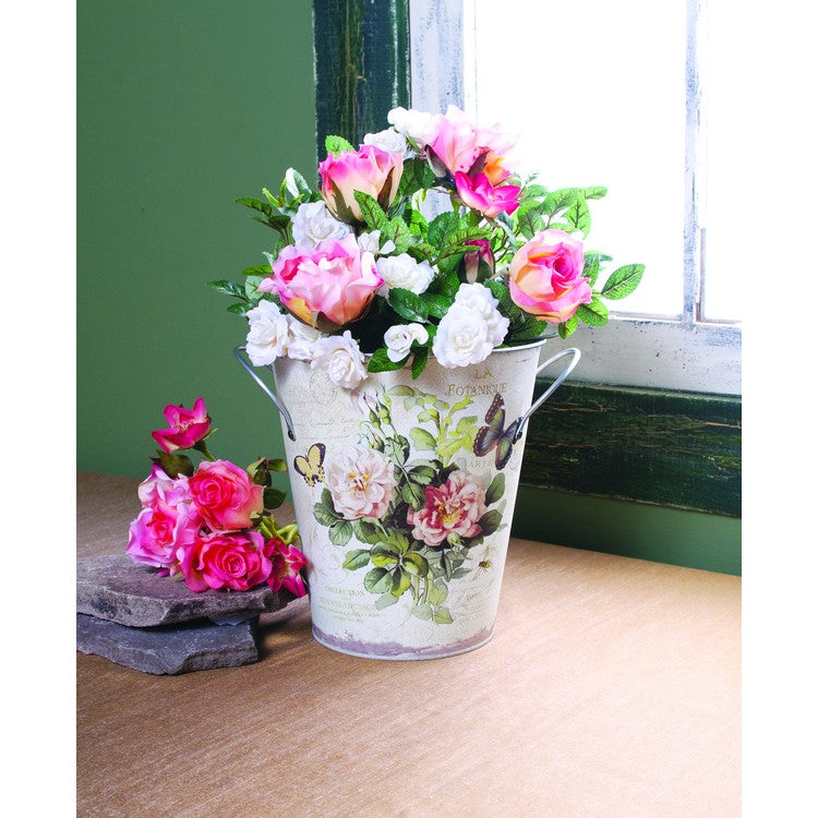 French Floral Bucket
