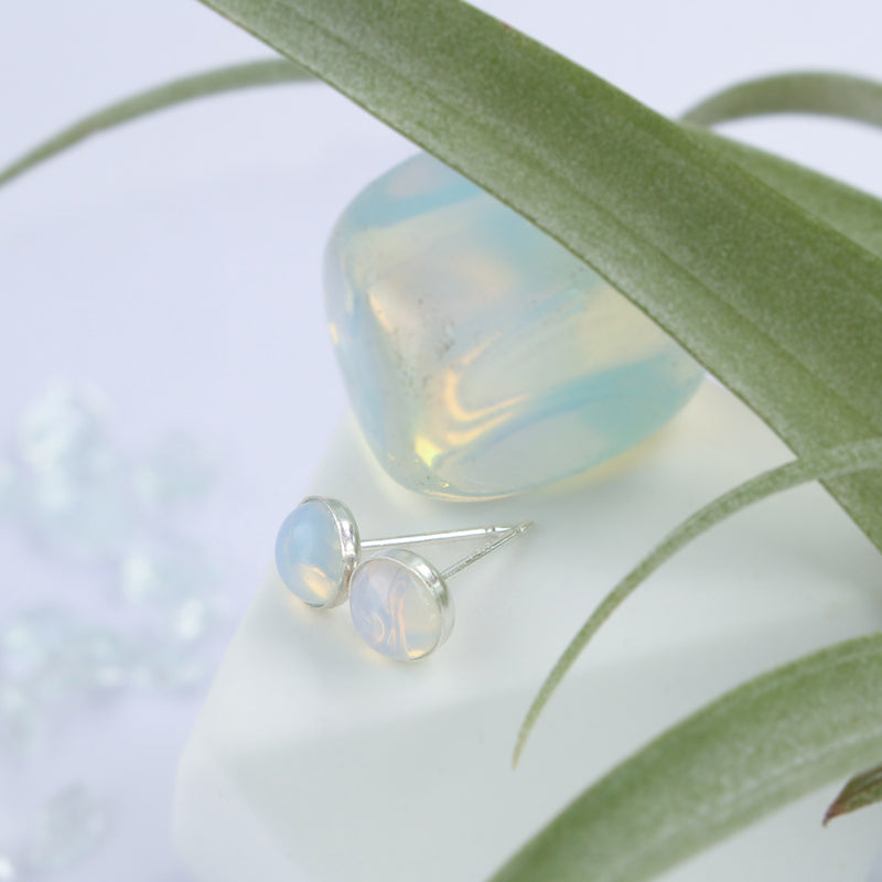Opal Stone Earrings | Sterling Silver