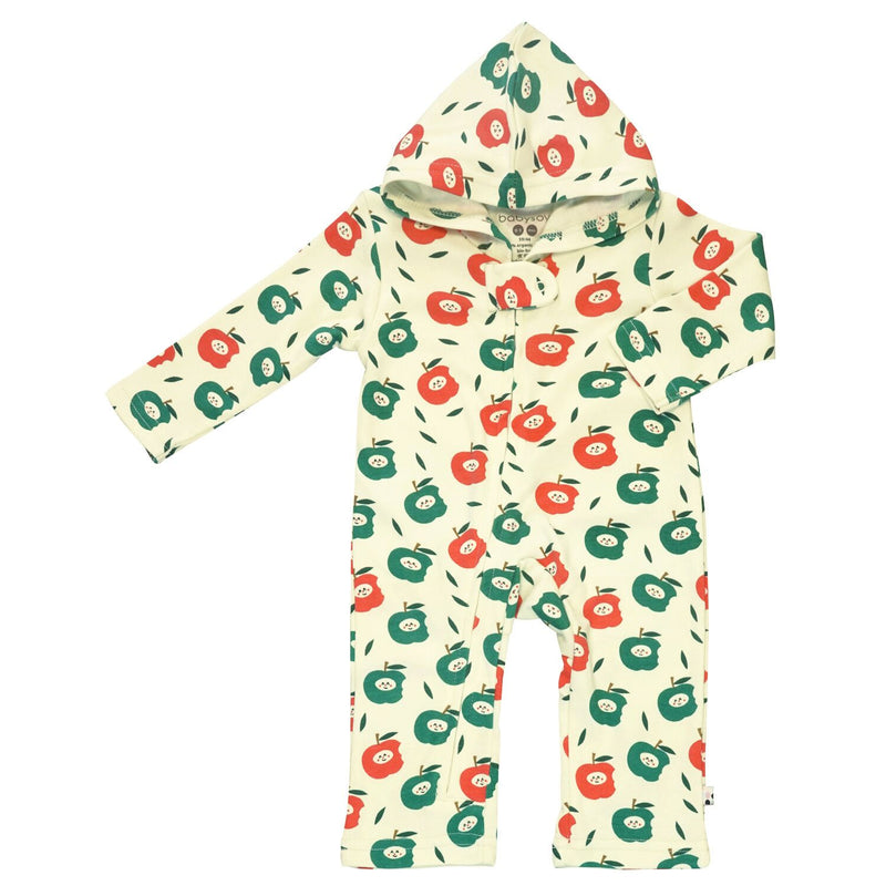 Apple Hooded Zipper Romper