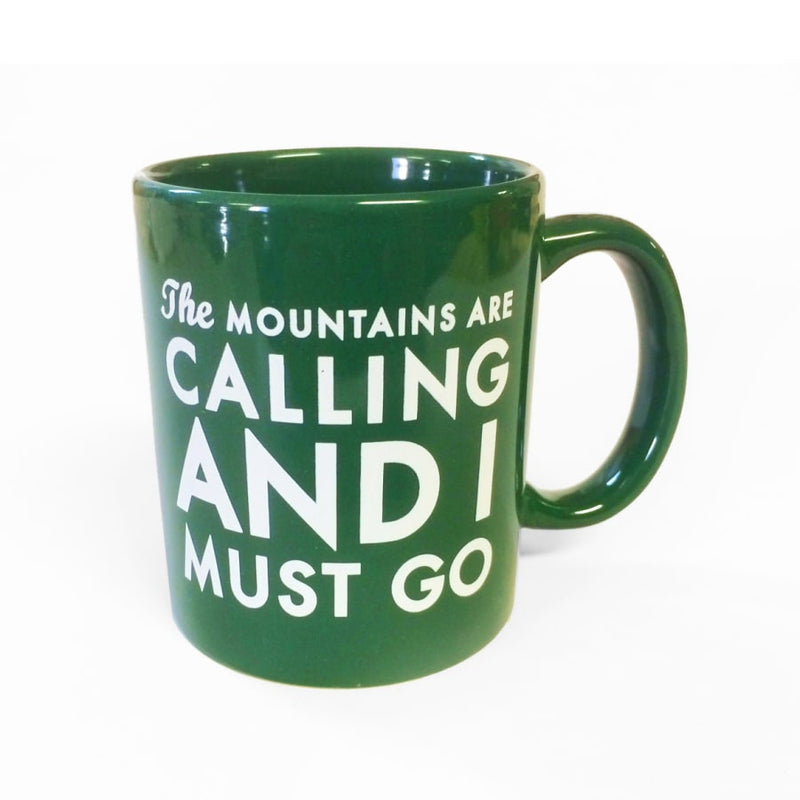 The Mountains Are Calling Mug - Green