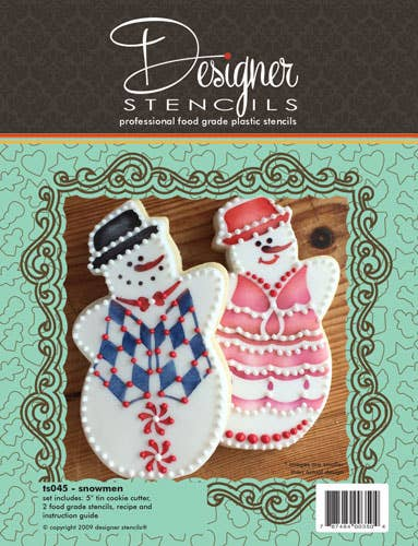 Snowman Cookie Cutter and Stencil Set