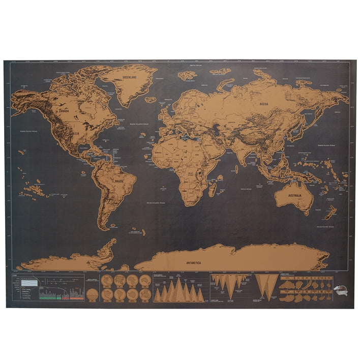 Scratch off World Map in Gift Tube