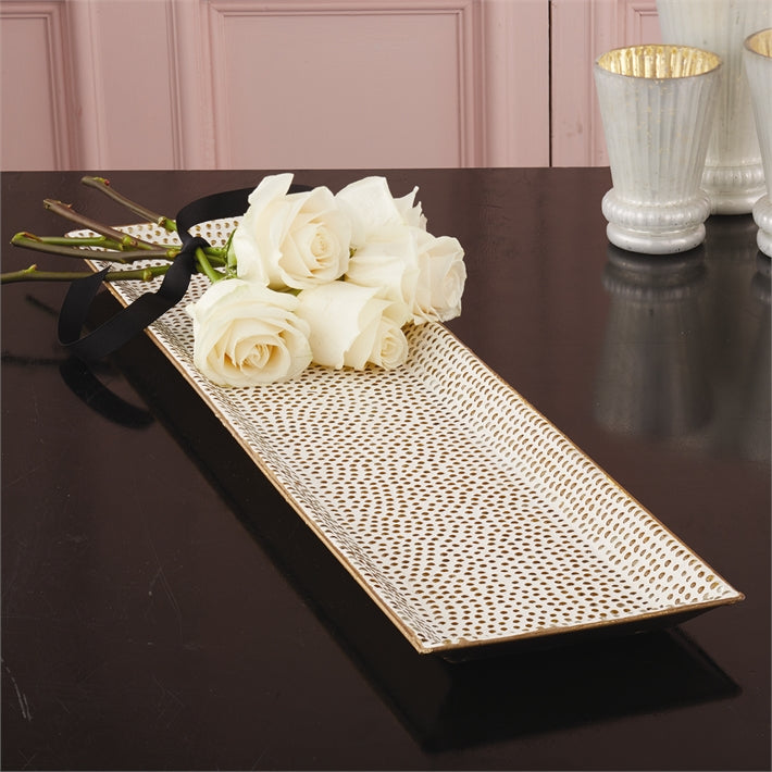 Dots of Gold Mosaic Tray