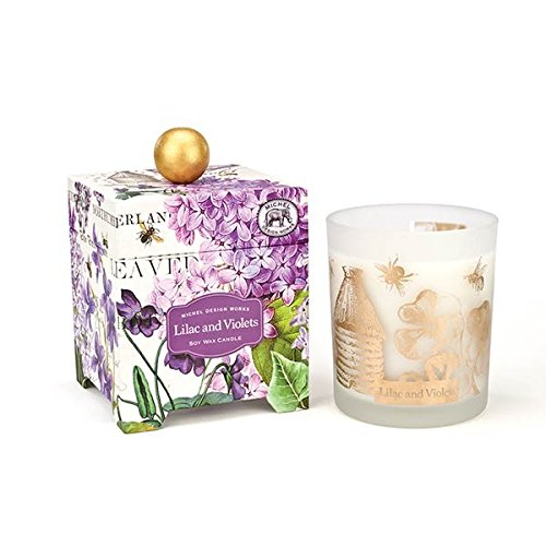 Lilac and Violets 14 oz. Soy Wax Candle