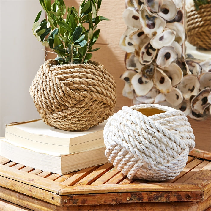 Knotted Rope Planter/Vase