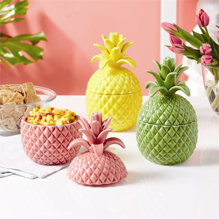 Pineapple Storage Jar with Lid