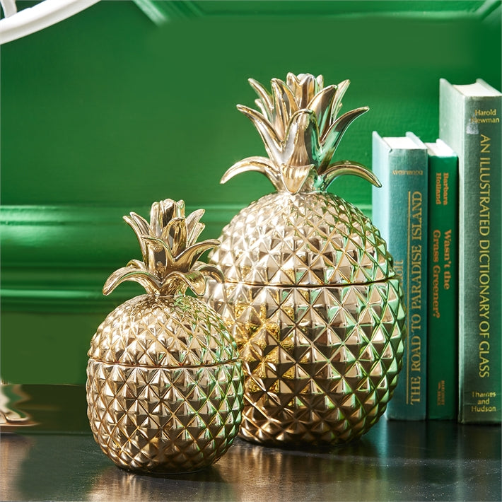 Golden Hospitality Pineapple Jar with Lid (food safe)