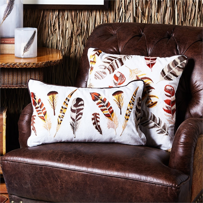 Feathered Pillow with Removable Cover