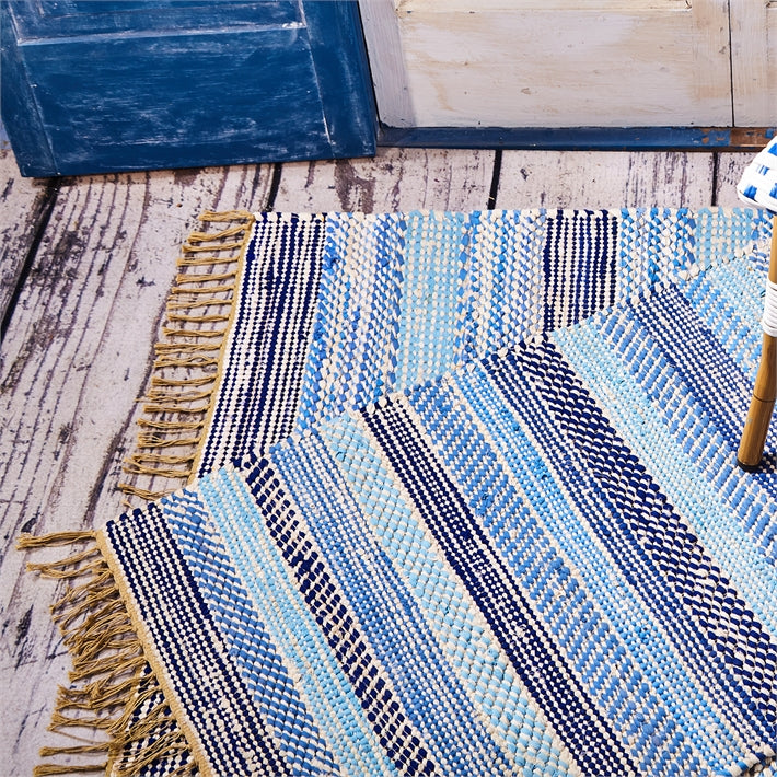 Out of the Blue Striped Rug