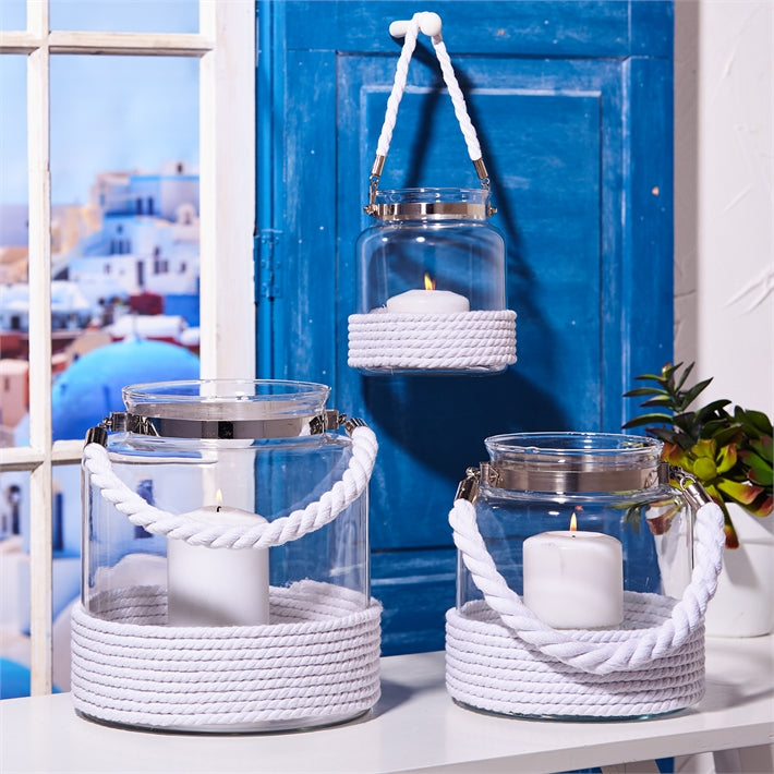 Harbor Lights White Rope Lantern