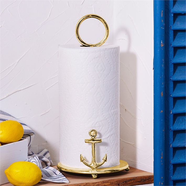 Anchors Away Golden Paper Towel Stand