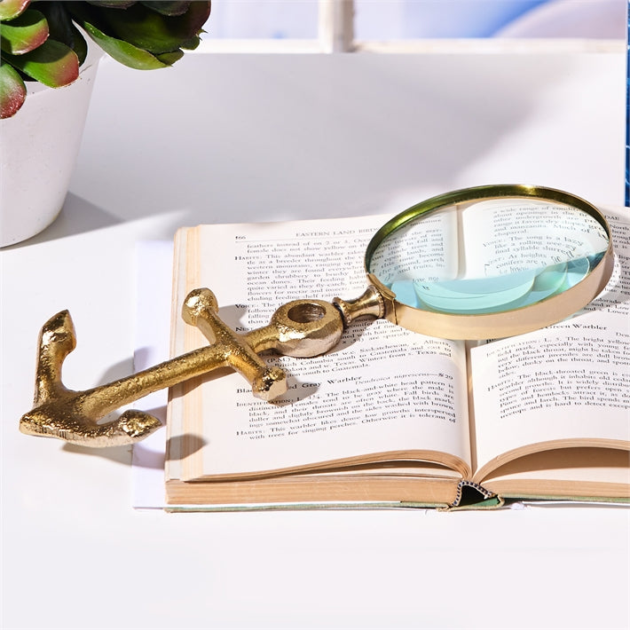 Anchors Away Golden Magnifying Glass