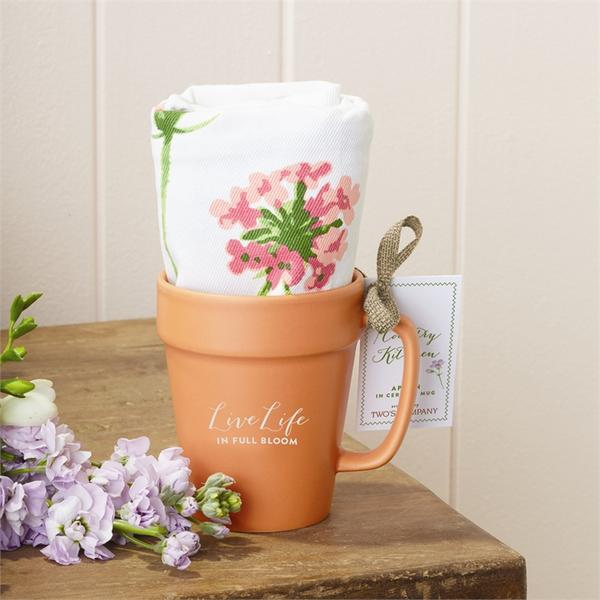 Live Life In Full Bloom Ceramic Cup