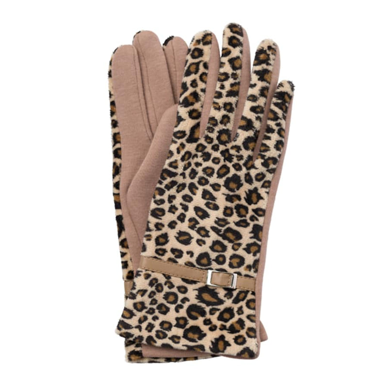Evelyn Leopard Gloves