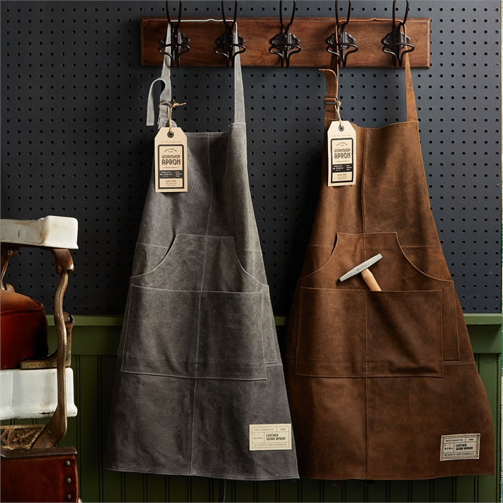 Leather Apron with Pockets
