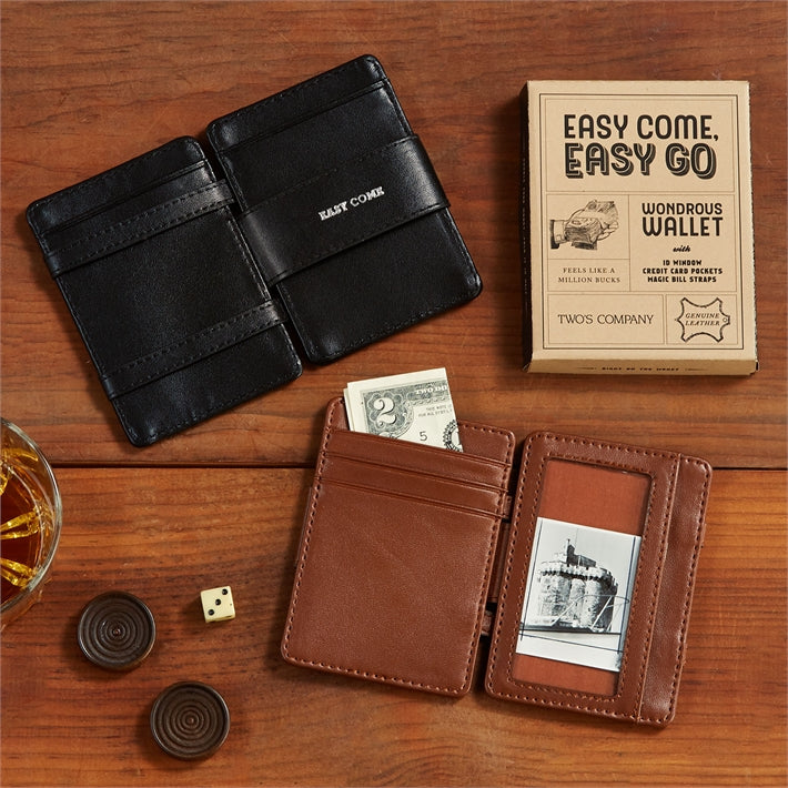 Leather Wallet with Saying in Gift Box