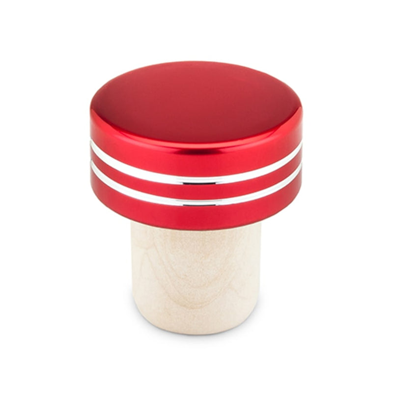 Red Metallic Bottle Stopper