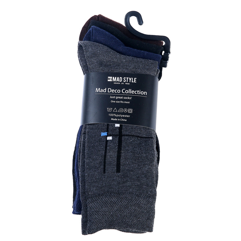 Men's Deco Intersect Socks (4 pair)