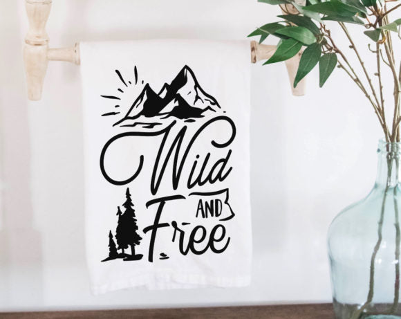 Wild and Free Tea Towel