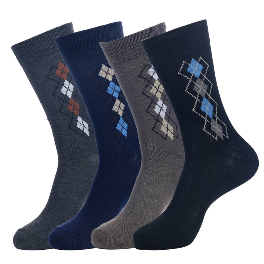 Men's Deco Argyle Socks ( 4 Pair)