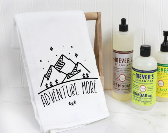 Adventure More Tea Towel