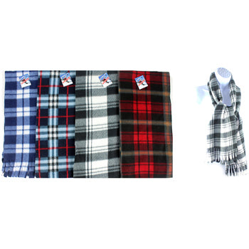 Winter Plaid Fleece Scarf