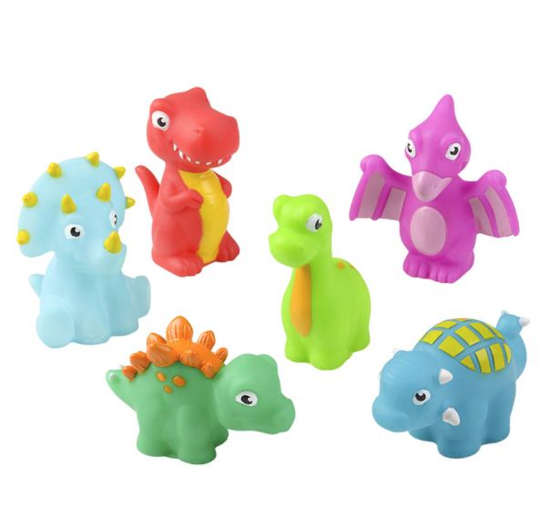 "Rubber Water Squirting Dinosaur (3"")"
