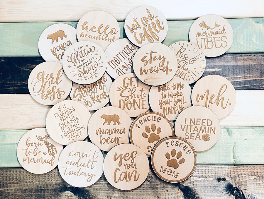 Rescue Mom Wooden Magnet