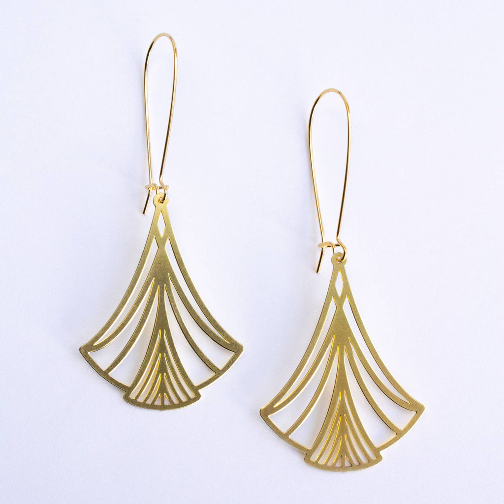 Art Nouveau Triangles Earrings