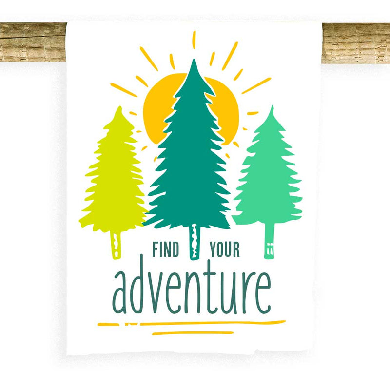 Find Your Adventure Trees and Sun Towel