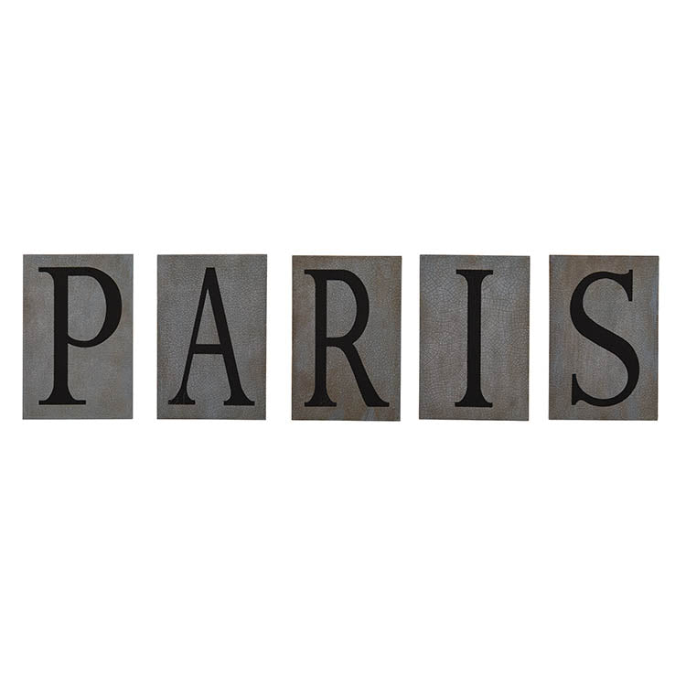 Paris Wood Letters (Set of 5)