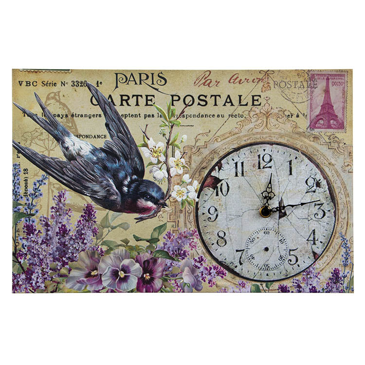 Paris Postcard Clock