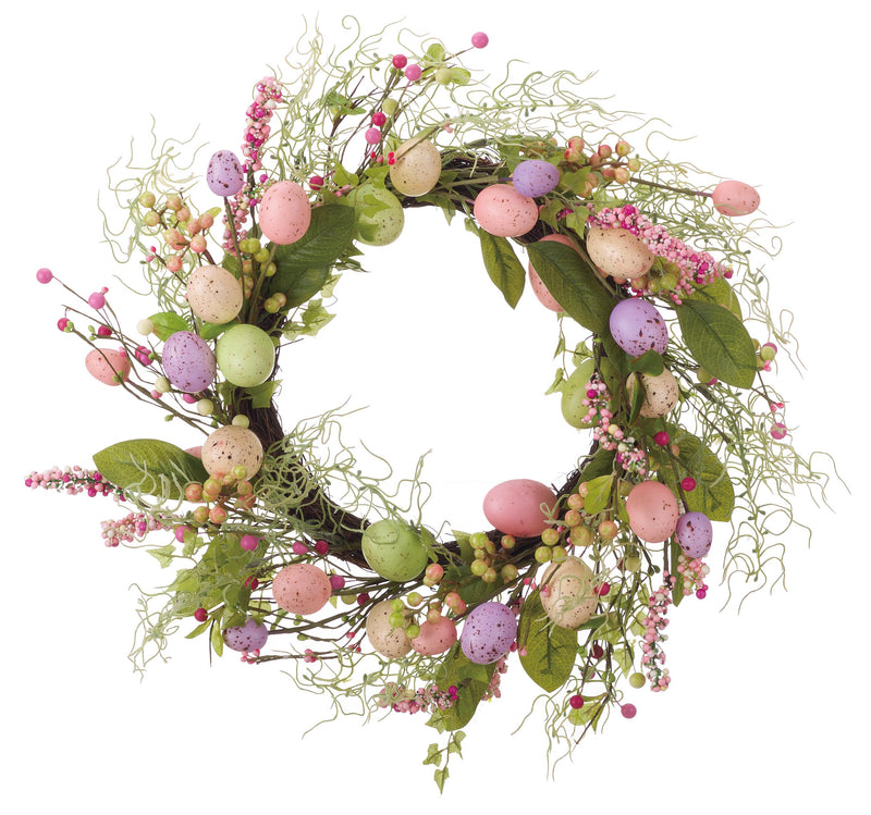 Multicolor Easter Faux Egg Wreath