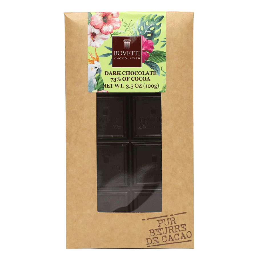 Bovetti - 25g Belgian Dark Chocolate Bar with Cocoa