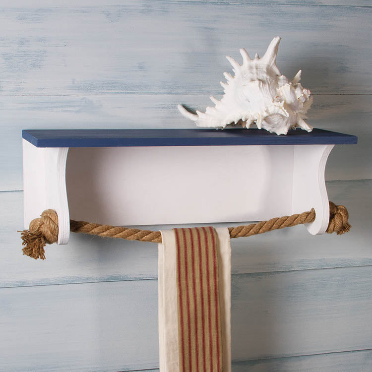 Nautical Towel Rack Shelf