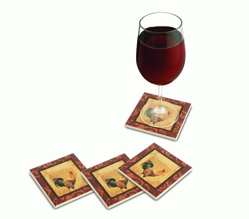 Rooster Ceramic Coaster (Set of 4)