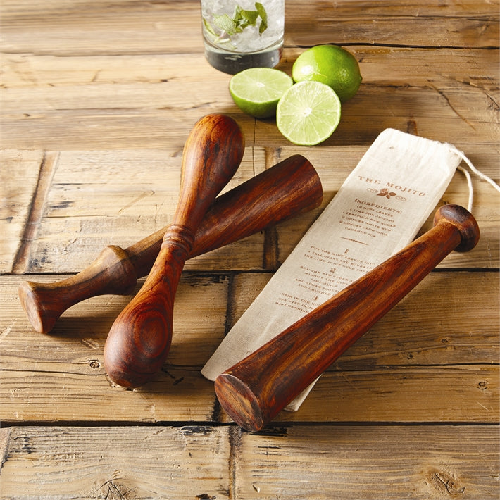 The Old Fashioned Wooden Muddler in Gift Pouch